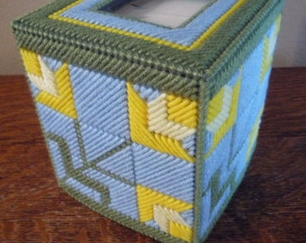 Daffodil quilt tissue box cover