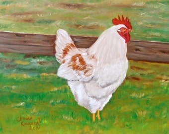 Chicken #2: Print of an Original Oil Painting