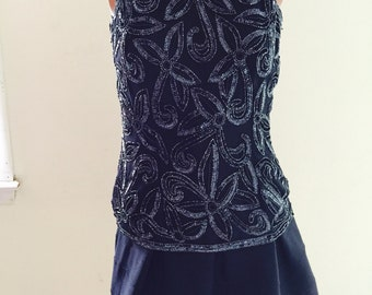 Silk blouse with design