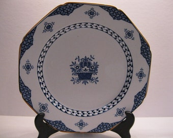 Woods Ware, Blue Bombay Plate, Enoch Woods, England