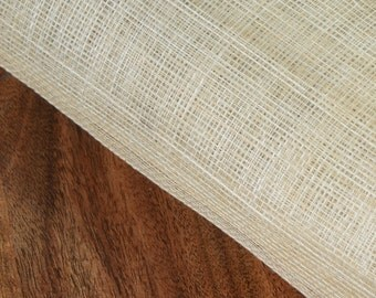 1/2 yard natural color Sinamay Fabric of Abaca, for millinery use, Hat Making