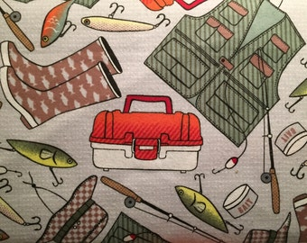 FLANNEL - Fishing Fabric - Fishing Flannel - Father's Day Fabric - Manly Fabric - Manly Flannel - Fisherman Fabric - Fisherman Flannel