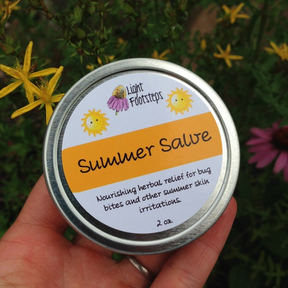 Summer Salve : Soothing Anti-Itch, Bug Bite, and Scrape Salve that is Great for any Skin Irritations! Herbal First-Aid