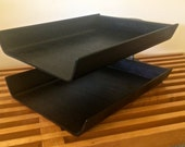Knoll mid century modern letter double tray bent plywood