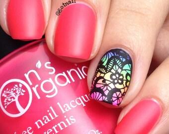 MATTE Pink Nail Polish - Neon Pink Nail Polish - Glow in the Dark Nail Polish - Vegan - Orange Nail Polish - Nail Art - Nail Designs - Nails