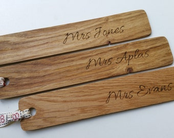 Personalised teachers gifts, Personalised bookmark, bookmark, book mark, Teachers gifts, teachers name, teaching assistant
