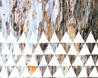 Blue bark big - Large wall art - Modern - Geometric