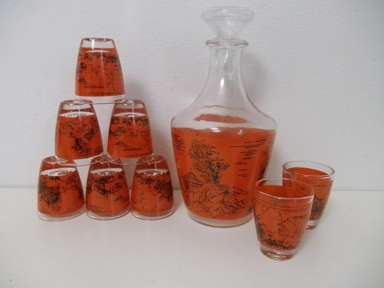 vintage verrere cristallerie d arques liqueur orange. Black Bedroom Furniture Sets. Home Design Ideas