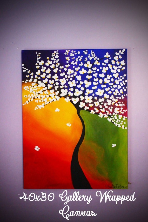 Items similar to tree painting large wall art 3d art for Large 3d wall art