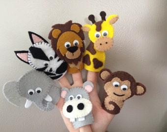 Zoo Friends Finger Puppet Set