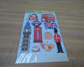 KandCompany Happy Trails Scrapbook Stickers England