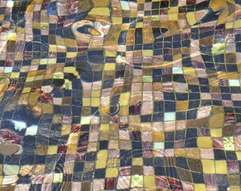 Zen Mosaic. | Tile Ripple Gold Black Tan White Under Water Meditative Fine Art Photography  8x10