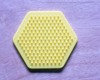 Perler Bead Yellow Hexagon Pegboard, Ironing Paper, Instructions, Craft Supply, Church Crafts