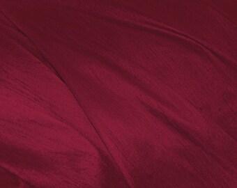 "Burgundy dupioni silk - 54"" wide"