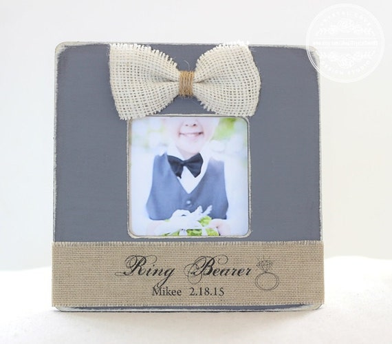 ring bearer gift pillow thank you personalized picture frame