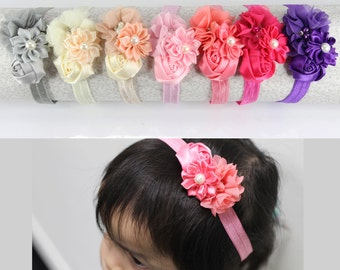 7pcs Girls Kids Toddler Flower Elastic Headband Hair Band Multicolor Assorted