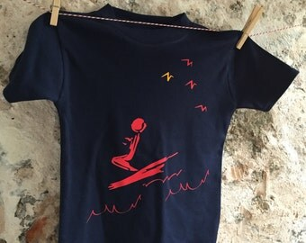 Surf baby t shirt, toddler surfer, beach tee, extreme sports, holiday baby, watersports baby