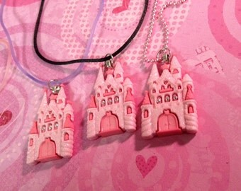 Pastel Goth Fairy Kei Sweet Lolita Fairy Princess Castle Necklaces