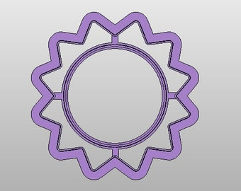 Sun cookie cutter w/ circle imprint