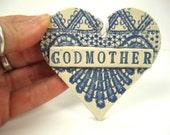 Godmother Gift, Baptism Gift, Godparent Ornament, Women's Gift, Godmother Christmas, Religious Ornament, Gift from Godchild, Tree Ornament