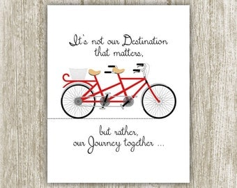 Journey Printable, Our Journey Together Print, 8x10, Instant Download, Quote Print, Family Wall Art, Being Together, Inspirational Decor