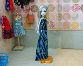 """Lagoona's """"Zebra Stripes"""" Patterned Maxi Dress, Made to Fit Ever After High and Monster High Dolls"""