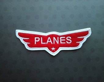 Planes Movie Logo Patch ~ Airplane Applique  Embroidered Iron On ~ No Sew  DIY