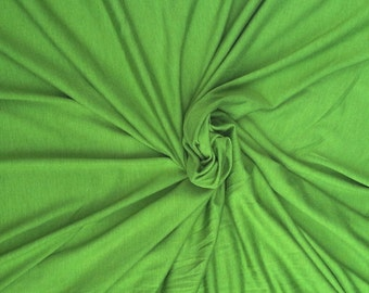 Lime Green Modal Spandex Fabric Jersey Knit by the Yard 4 Way Stretch 2-13