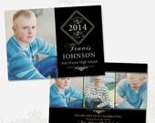 Senior Graduation Announcement Template for Photographers 009 - ID188, Instant Download