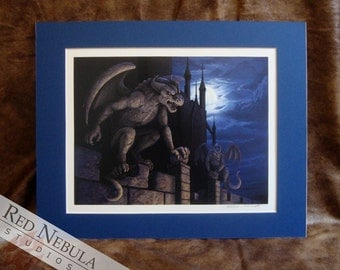 Gargoyle Print - Matted Limited Edition #7 of 100