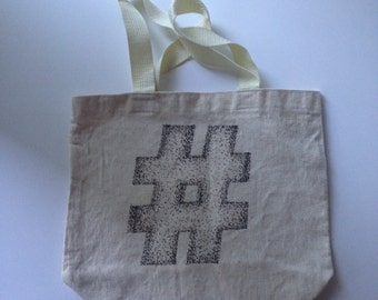 Hashtag Canvas Tote Bags
