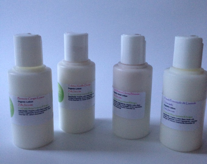 Travel Size Organic Lotions