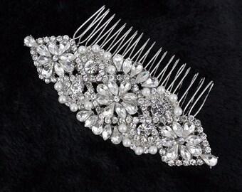 Wedding Comb, Bridal Comb, Bridal Head Piece, Rhinestone Hair Comb Head Piece, Rhinestone Headpiece, Rhinestone Wedding Hair Jewelry