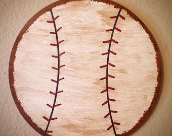 Sports Nursery Wall Hanging-Baseball Hanging-Basketball Hanging-Soccer Hanging-Football Hanging-Vintage Baseball-Nursery Decor-Baseball Room