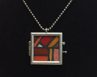 Warm geometric locket