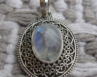 GET 15% OFF Moonstone Sterling Silver Pendant