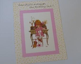 Vintage 1969~ Holly Hobbie ~ Birthday Greeting Card