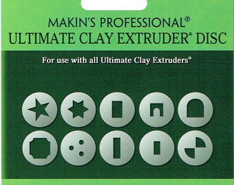 "Set ""D"" Brand NEW"" designs Makin's extruder disc adapters, 10 piece"