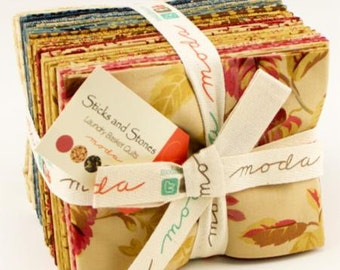 Sticks and Stones Fat Quartr Pack (23) by Laundry Basket Quilts for Moda.