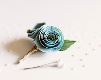 Atlas Paper Flower Buttonhole (Large)