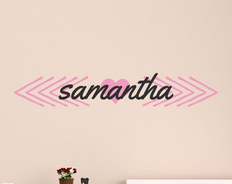 Wall Name Decal - Child Name Wall Decal - Child's Name Wall Art 0042