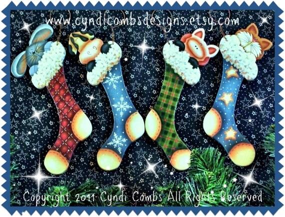 CC101 - Stocking Stuffers Ornaments - Painting E Pattern by Cyndi Combs