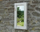 Reclaimed Window Mirror - Small white distressed