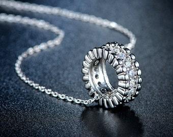 Circle Around Me Pendant Necklace