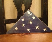 Wooden Folded American Flag Americana Distressed Flag Veterans Day Memorial Day Military