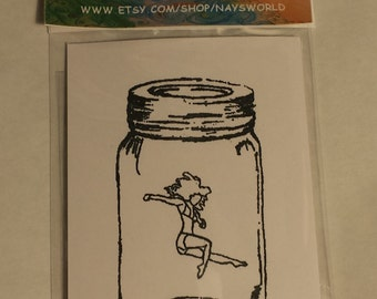 Life in a Jar Cling Stamp, Cling Stamp, Female cling stamp