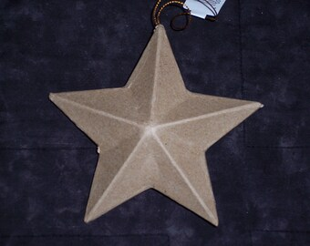 "5 inch paper mache star ornaments,5 "" wide,3-D,5 point stars,ready to paint,finish,embellish,Fourth of July,Christmas,kids craft"