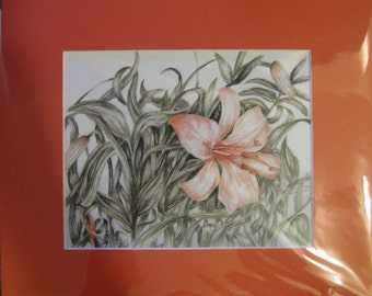 "8x10"" Pink Flower (Breast Cancer)"