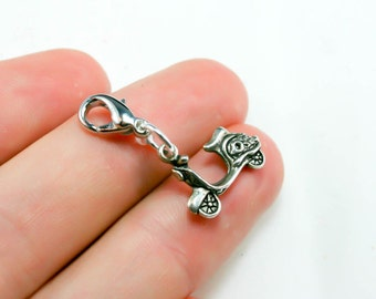 Scooter Charm. Vespa Charm. Silver Scooter Keychain Charm. SCC328