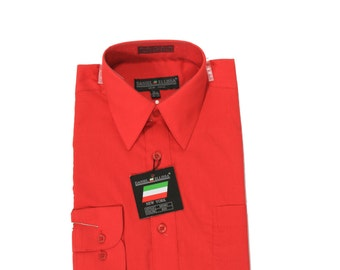 Red Shirt - 14.5 32-33 - Long Sleeved